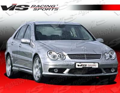 VIS Racing - Mercedes-Benz C Class VIS Racing Euro Tech Front Bumper - 01MEW2034DET-001