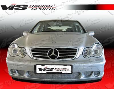 VIS Racing - Mercedes-Benz C Class VIS Racing Laser Front Bumper - 01MEW2034DLS-001