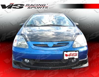 VIS Racing - Honda Civic HB VIS Racing Techno-R Carbon Fiber Front Lip - 02HDCVCHBTNR-011C