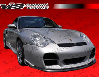 VIS Racing - Porsche 911 VIS Racing A-Tech GT Front Bumper with Carbon Fiber Accent - 02PS996T2DATHGT-001CC