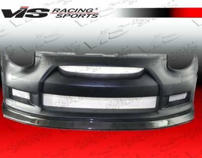VIS Racing - Infiniti G35 2DR VIS Racing GTR Front Bumper - Carbon Fiber Center - 03ING352DGTR-001CC