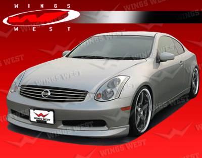 VIS Racing - Infiniti G35 2DR VIS Racing JPC Front Lip - Polyurethane - 03ING352DJPC-011P