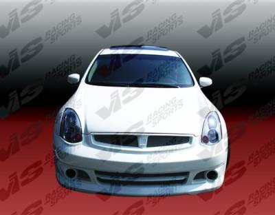 VIS Racing - Infiniti G35 2DR VIS Racing K Speed Front Bumper - 03ING352DKSP-001