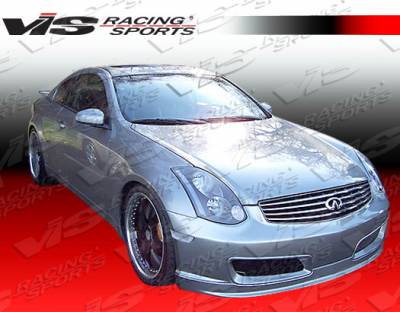 VIS Racing - Infiniti G35 2DR VIS Racing Techno-R Front Bumper - Urethane - 03ING352DTNR-001P