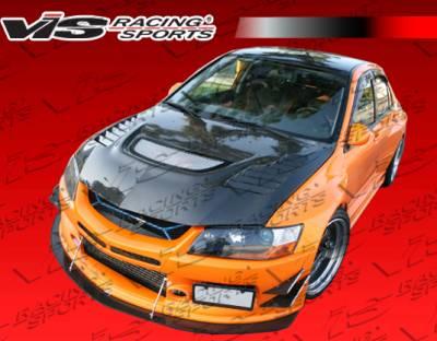VIS Racing. - Mitsubishi Evolution 8 VIS Racing VTX Widebody Front Bumper - 03MTEV84DVTXWB-001