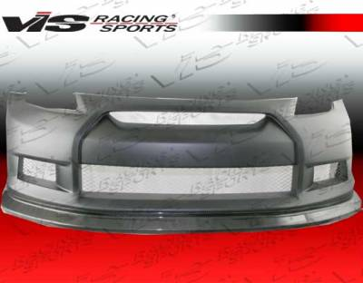 VIS Racing - Nissan 350Z VIS Racing GTR Front Bumper - Carbon Fiber Center - 03NS3502DGTR-001CC