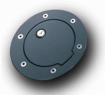 All Sales - All Sales Billet Fuel Door - Black with Lock - 6031KL