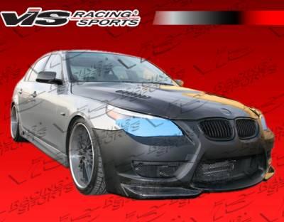 VIS Racing - BMW 5 Series VIS Racing AMS Front Bumper - Carbon Fiber - 04BME604DAMS-001CC