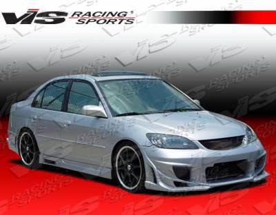 VIS Racing - Honda Civic 2DR VIS Racing Ballistix Front Bumper - 04HDCVC2DBX-001