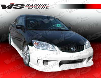 VIS Racing - Honda Civic 2DR VIS Racing Terminator Front Bumper - 04HDCVC2DTM-001