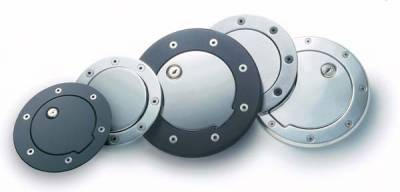 All Sales - All Sales Billet Fuel Door - Polished with Lock - 6043PL