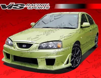 VIS Racing - Hyundai Elantra 4DR VIS Racing Cyber Front Bumper - 04HYELA4DCY-001