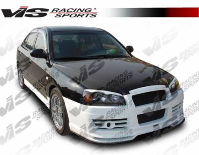 VIS Racing - Hyundai Elantra 4DR VIS Racing Fuzion Front Bumper - 04HYELA4DFUZ-001