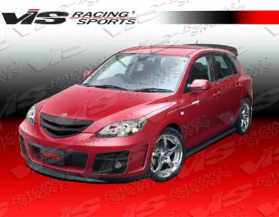 VIS Racing - Mazda 3 4DR HB VIS Racing A Tech Front Bumper - 04MZ3HBATH-001