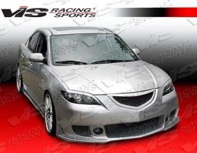 VIS Racing - Mazda 3 4DR HB VIS Racing TSC-3 Front Bumper - 04MZ3HBTSC3-001