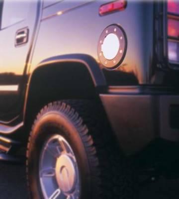All Sales - All Sales Billet Fuel Door - Black Powder Coated Chrome - 6092KC