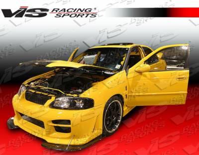 VIS Racing - Nissan Sentra VIS Racing Octane Front Bumper - Polyurethane - 04NSSEN4DOCT-001P