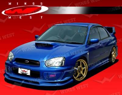 VIS Racing - Subaru WRX VIS Racing JPC Front Lip - Polyurethane - 04SBWRX4DJPC-011P