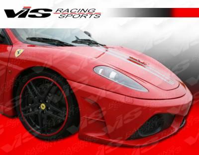 VIS Racing - Ferrari F430 VIS Racing Scuderia Front Bumper - Carbon Fiber - 05FR4302DSCU-001C