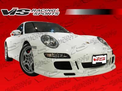 VIS Racing - Porsche 911 VIS Racing D3 Front Bumper - Polyurethane - 05PS9972DD3-001P