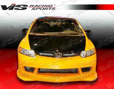 VIS Racing - Honda Civic 2DR VIS Racing Techno R-2 Front Bumper - 06HDCVC2DTNR2-001