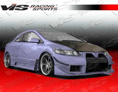 VIS Racing. - Honda Civic 2DR VIS Racing Wide body GT Front Bumper - 06HDCVC2DWBGT-001