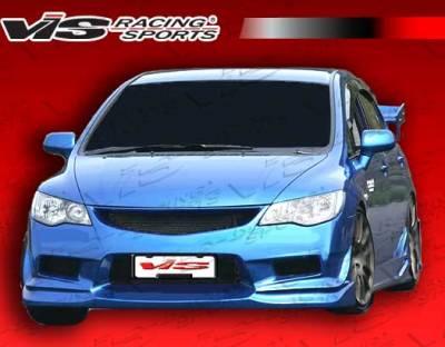 VIS Racing - Honda Civic VIS Racing Ballistix Front Bumper - 06HDCVC4DJBX-001