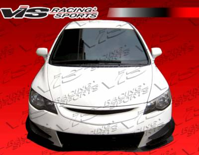 VIS Racing - Honda Civic VIS Racing J Speed Front Bumper - 06HDCVC4DJJSP-001
