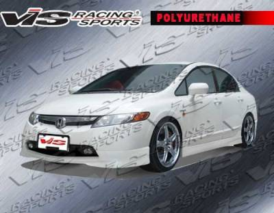 VIS Racing - Honda Civic 4DR VIS Racing Techno R-1 Front Lip - 06HDCVC4DTNR1-011P