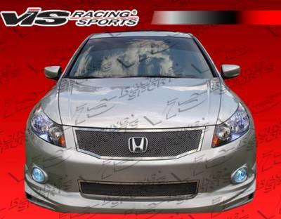 VIS Racing. - Honda Accord 4DR VIS Racing Techno R Front Lip - 08HDACC4DTNR-011