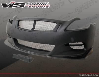 VIS Racing - Infiniti G37 VIS Racing Zelda Front Bumper - 08ING372DZEL-001CC