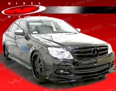 VIS Racing - Mercedes-Benz C Class VIS Racing JPC Front Lip - Polyurethane - 08MEW2044DJPC-011P