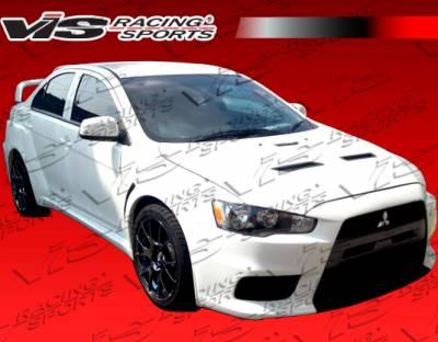 VIS Racing. - Mitsubishi Lancer VIS Racing EVO X Widebody Front Bumper - 08MTLAN4DEVXWB-001