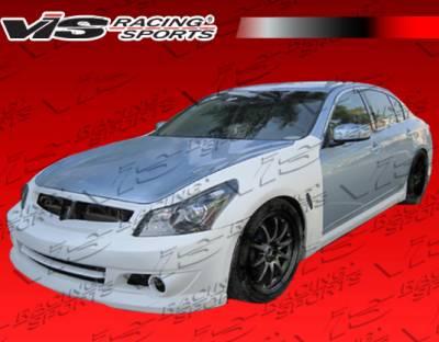 VIS Racing - Infiniti G37 VIS Racing K Speed Front Bumper - 09ING374DKSP-001