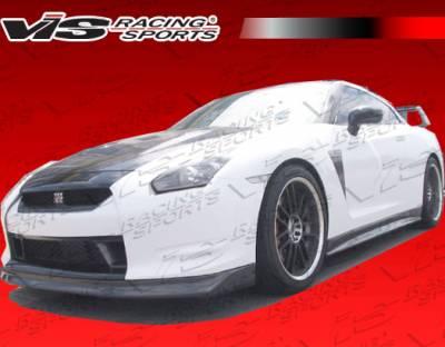 VIS Racing - Nissan Skyline VIS Racing Godzilla Front Lip - Dry Carbon Fiber - 09NSR352DGOD-011D