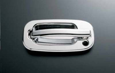 All Sales - All Sales Chrome Billet Door Handle Replacements - Left and Right Side with Lock - 900C