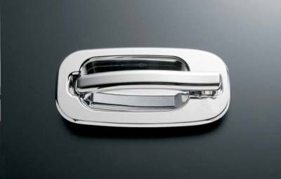 All Sales - All Sales Chrome Billet Door Handle Replacements - Left and Right Side without Lock - 902C