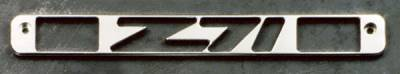 All Sales - All Sales Third Brake Light Cover - Z-71 Design - Polished - 94008P