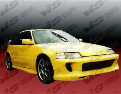 VIS Racing - Honda CRX VIS Racing Kombat Front Bumper - 88HDCRXHBKOM-001