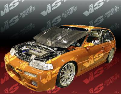 VIS Racing - Honda CRX VIS Racing Omega Front Bumper - 88HDCRXHBOMA-001