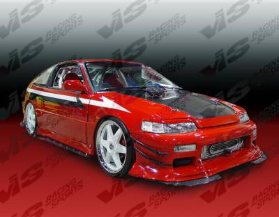 VIS Racing - Honda CRX VIS Racing TNR Flared Front Bumper - 88HDCRXHBTRF-001