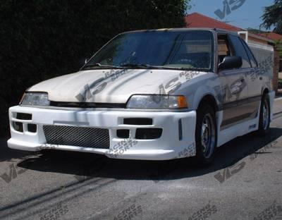 VIS Racing - Honda Civic 4DR VIS Racing Z1 boxer Front Bumper - 88HDCVC4DZ1-001