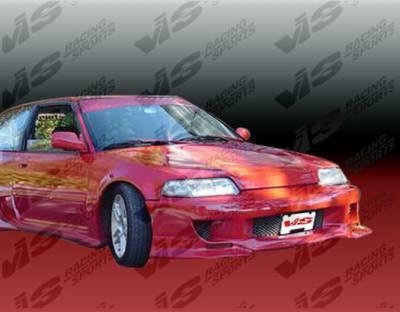 VIS Racing - Honda Civic HB VIS Racing Strada F1 Front Bumper - 88HDCVCHBSF1-001