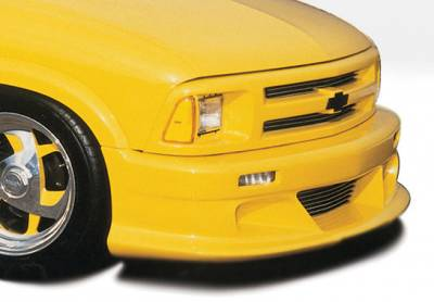 VIS Racing - Chevrolet S10 VIS Racing Custom Style Front Lip - Polyurethane - 890001-2