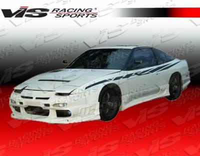 VIS Racing - Nissan 240SX HB VIS Racing Ballistix Front Bumper - 89NS2402DBX-001