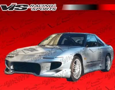 VIS Racing - Nissan 240SX VIS Racing Invader-4 Front Bumper - 89NS2402DINV4-001