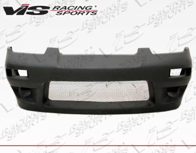 VIS Racing - Nissan 240SX VIS Racing Quad Six Front Bumper - 89NS2402DQS-001