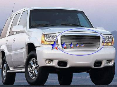 APS - Cadillac Escalade APS Billet Grille - Upper - Stainless Steel - A85367S