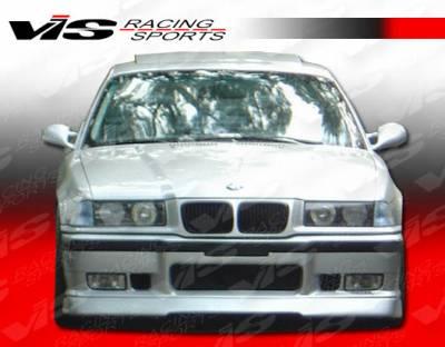 VIS Racing - BMW 3 Series 2DR VIS Racing RT Front Lip - 92BME362DRT-011