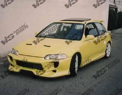 VIS Racing - Honda Civic 2DR & HB VIS Racing Invader-2 Front Bumper - 92HDCVC2DINV2-001